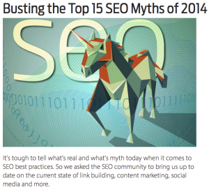Busting SEO Myths